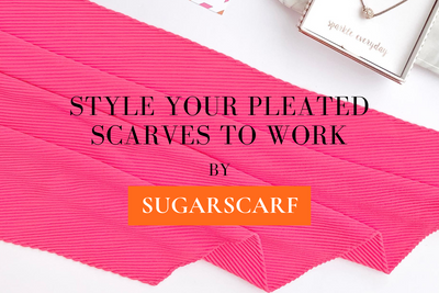 Style Your Pleated Scarves to Work