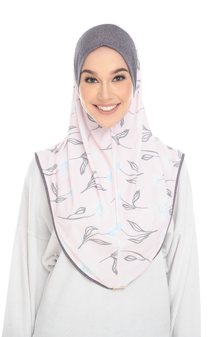 Luna SlipOn Classic SLIM ( L ) In CreamPink Flower