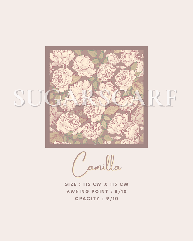 ( Square )  The Iconic You Blooming Series Mixed Satin Silk ( Camilla )