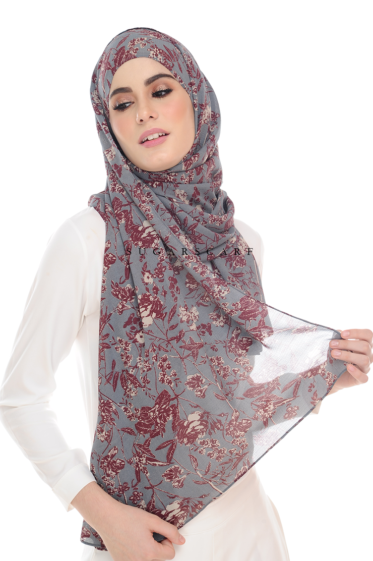 Sugarscarf BasicPrints Alisa Shawl - SuperFlower