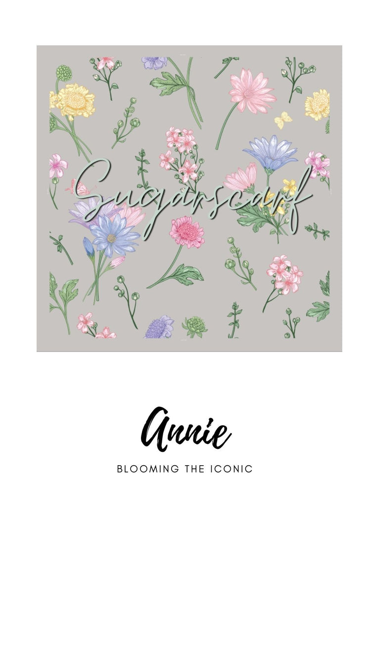 ( Square )  The Iconic You Blooming Series Mixed Satin Silk ( Annie )