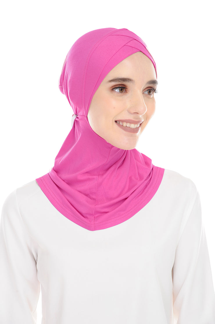 MagicFitInner Inner neck Tieback Sugarscarf - French Pink ( Free Size )