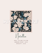 ( Square )  The Iconic You Blooming Series Mixed Satin Silk ( Natallia )