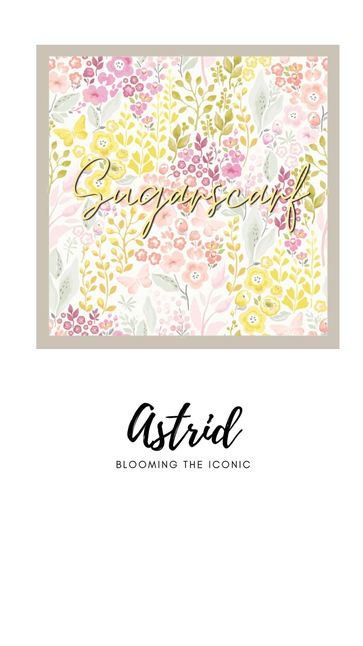 ( Square )  The Iconic You Blooming Series Mixed Satin Silk ( Astrid )