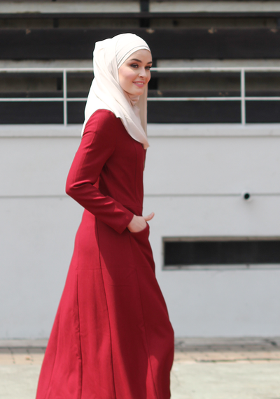 Blair Structured Dress In Red