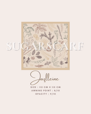 ( Square )  The Iconic You Blooming Series Mixed Satin Silk ( Jazlleine )