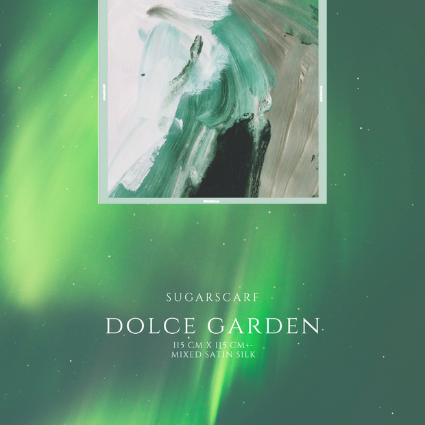 (Square) DOLCE Mix Satin Silk Scarf -  Garden