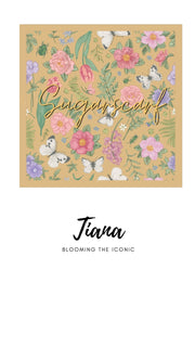 ( Square )  The Iconic You Blooming Series Mixed Satin Silk ( Tiana )