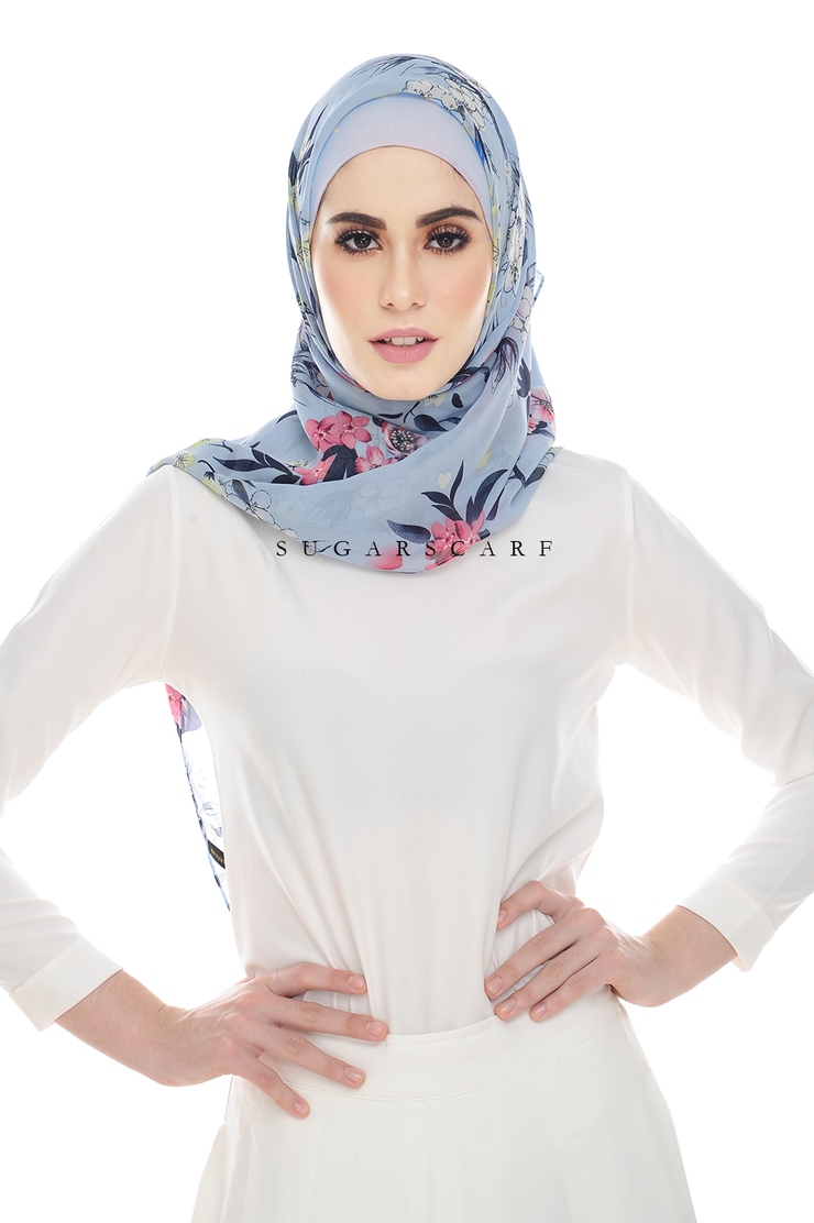 Sugarscarf BasicPrints Alisa - Square Blue Melody