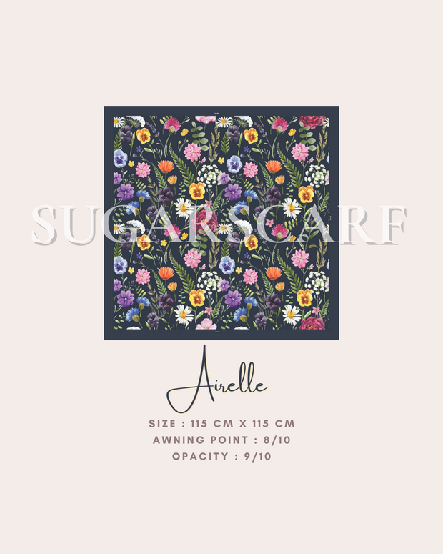 ( Square )  The Iconic You Blooming Series Mixed Satin Silk ( Arielle ) - Sending within 1 week