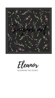 ( Square )  The Iconic You Blooming Series Mixed Satin Silk ( Eleanor )