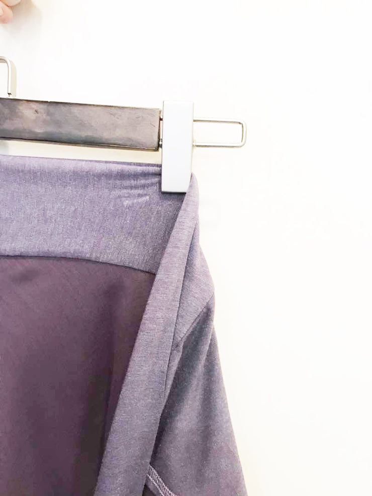 Sugarscarf Claudia Voile / Bawal Monogram Instant Tie Back Free Size ( Purple Gray )