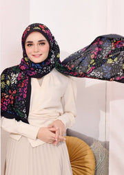 (Full Pleats ) BLOOMING EID Shawls in DIVINE PETAL