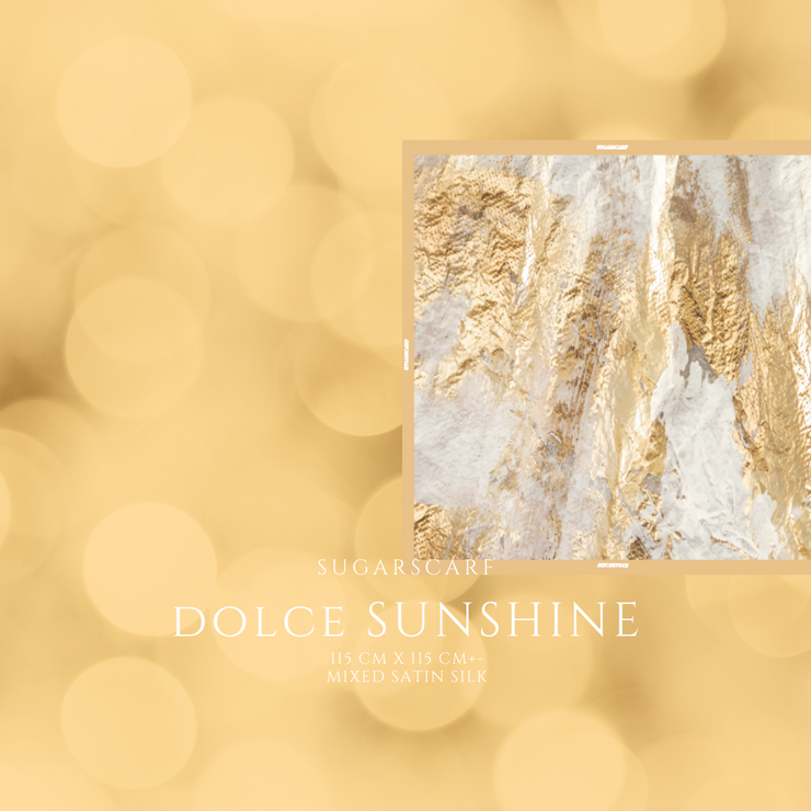 (Square) DOLCE Mix Satin Silk Scarf -  Sunshine