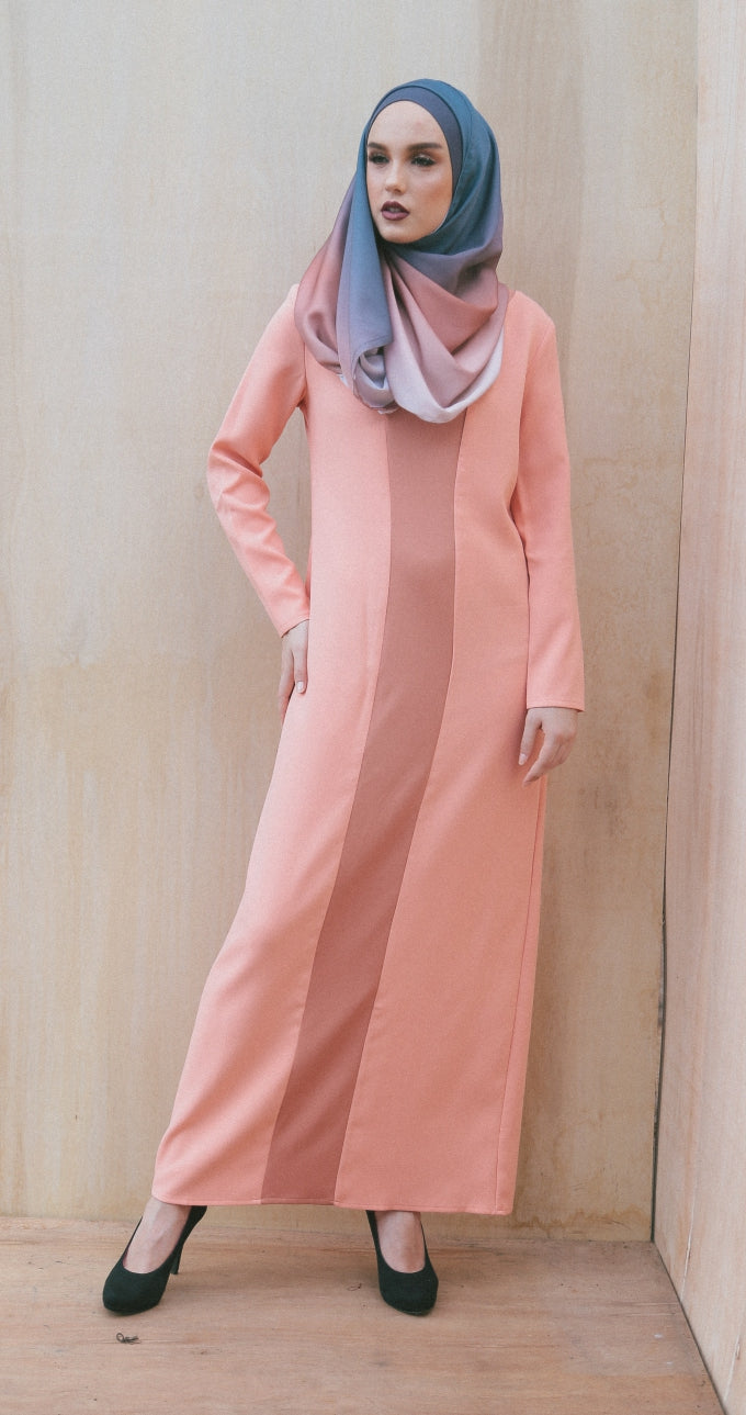 SALMON KENDRA DRESS ( L )