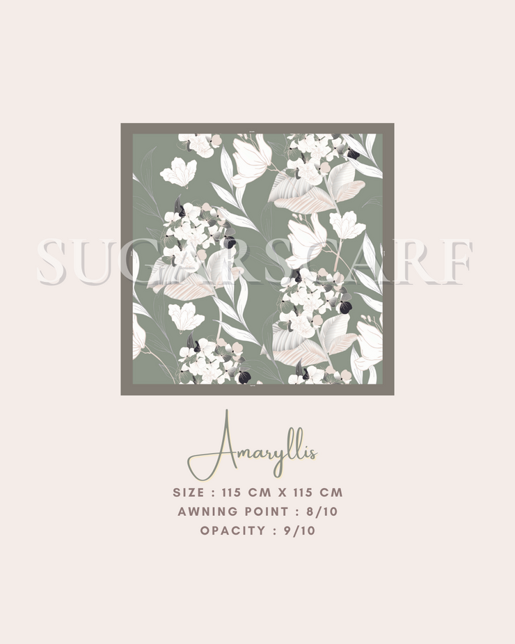 ( Square )  The Iconic You Blooming Series Mixed Satin Silk ( Amaryllis )