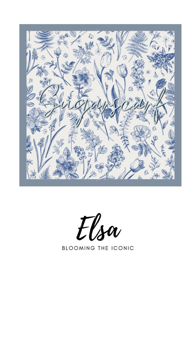 ( Square )  The Iconic You Blooming Series Mixed Satin Silk ( Elsa )