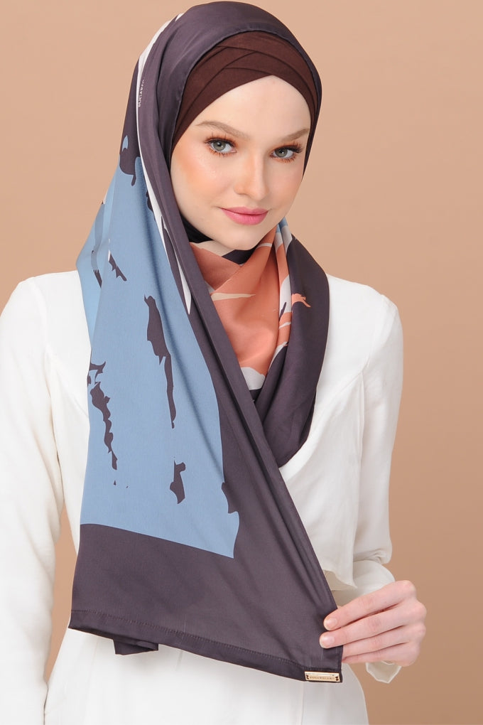 Euphoria MIDNIGHT KISS - Semi instant mixed satin silk - Sugarscarf