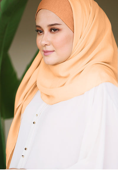 Claudia Instant Peach- Bawal Small - Sugarscarf