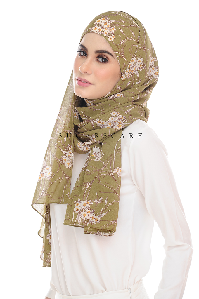 Sugarscarf BasicPrints Alisa Shawl - Flower Rules