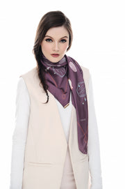 Chic Traveller Square In Purple Rain Special rm150 - Sugarscarf