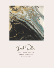 ( Square )  Dolce Stardust Mixed Satin Silk ( Dark Stellar )