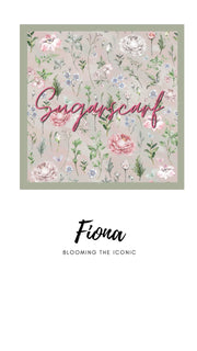 ( Square )  The Iconic You Blooming Series Mixed Satin Silk ( Fiona )