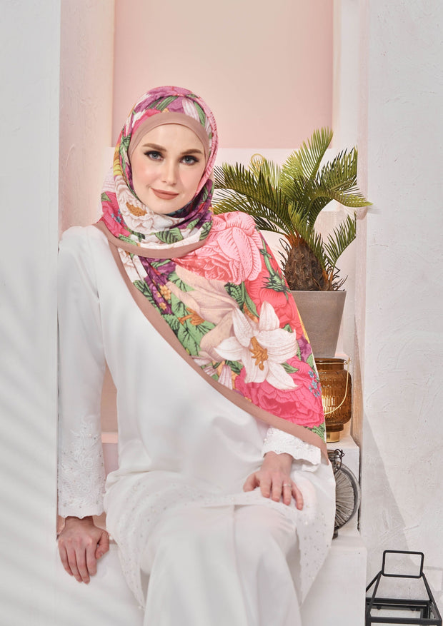 (Full Pleats ) BLOOMING EID Shawls in FLEUR