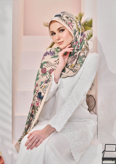 (Full Pleats ) BLOOMING EID Shawls in CALLANTHA