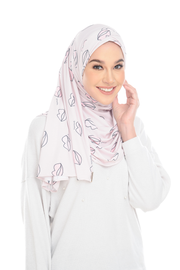 (Pink Lippy ) Pinless Semi Instant Shawl - Choose Awning