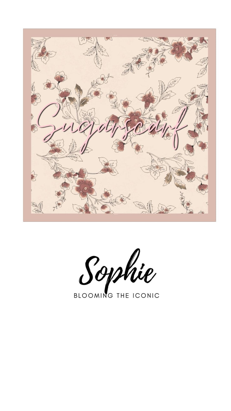 ( Square )  The Iconic You Blooming Series Mixed Satin Silk ( Sophie )