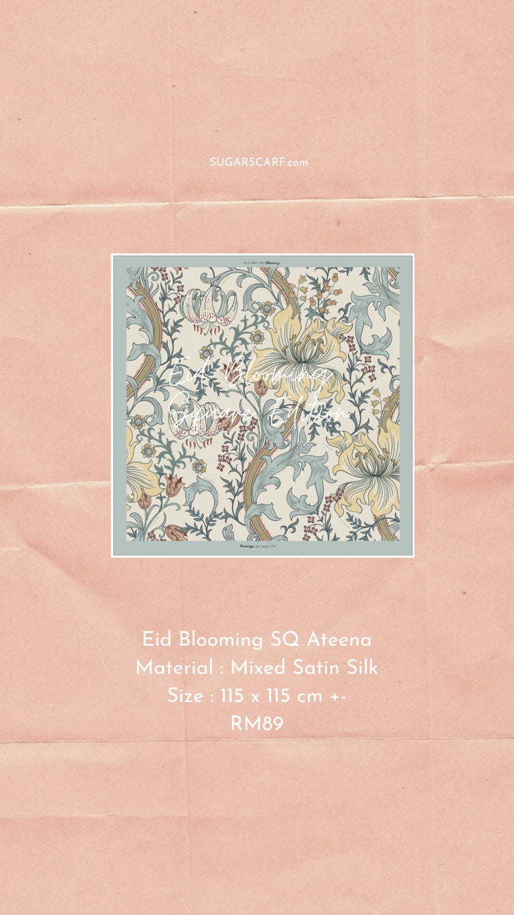 Eid Blooming Mixed Satin Silk (Square ) - Ateena Wild Flowers