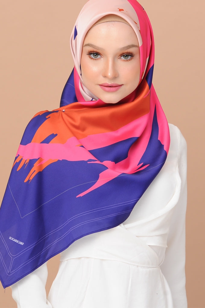 Euphoria HIGH SPIRIT BLUE Square - Sugarscarf