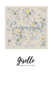 ( Square )  The Iconic You Blooming Series Mixed Satin Silk ( Gizelle )