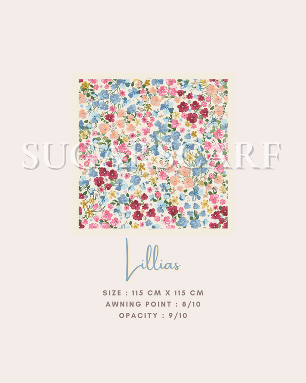 ( Square )  The Iconic You Blooming Series Mixed Satin Silk ( Lillias )