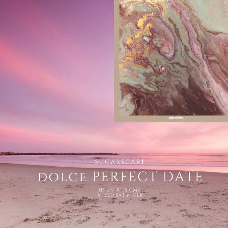 (Square) DOLCE Mix Satin Silk Scarf -  PerfectDate