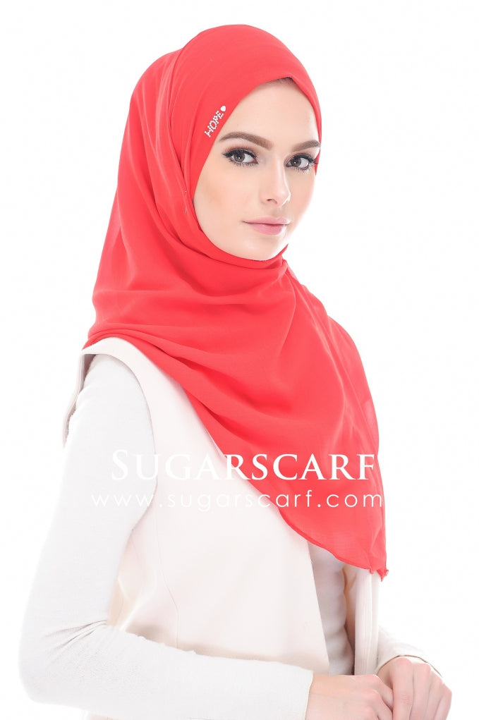 HOPE DAISY SALSA RED - defective on stones - Sugarscarf