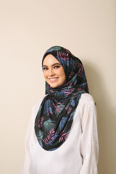 (GlowForest-10) Julia Round Awning Pinless Semi Instant Shawl