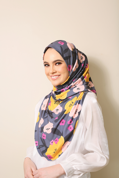 (Merrier11) Julia Round Awning Pinless Semi Instant Shawl