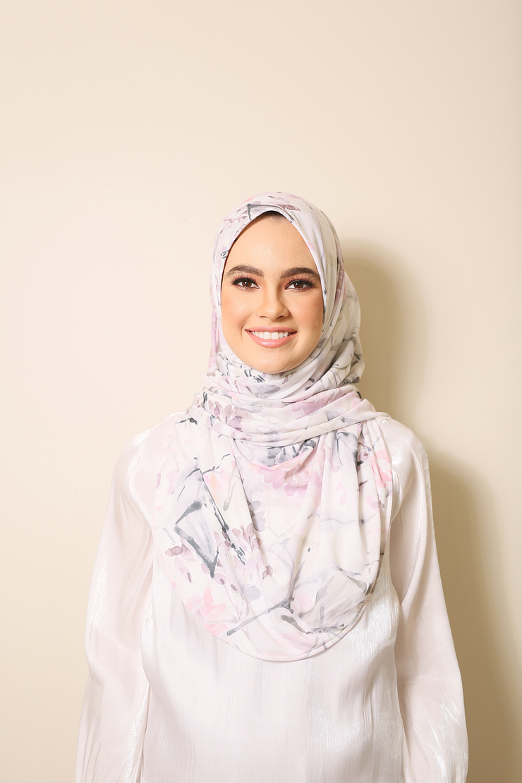 ( Just Bloom 07 ) Julia Round Awning Pinless Semi Instant Shawl