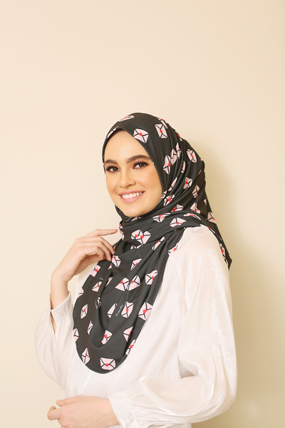 ( Letter Love ) JULIA Pinless Semi Instant Shawl - Round Awning
