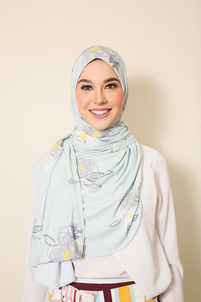 ( Green Dahlia ) Julia Round Awning Pinless Semi Instant Shawl