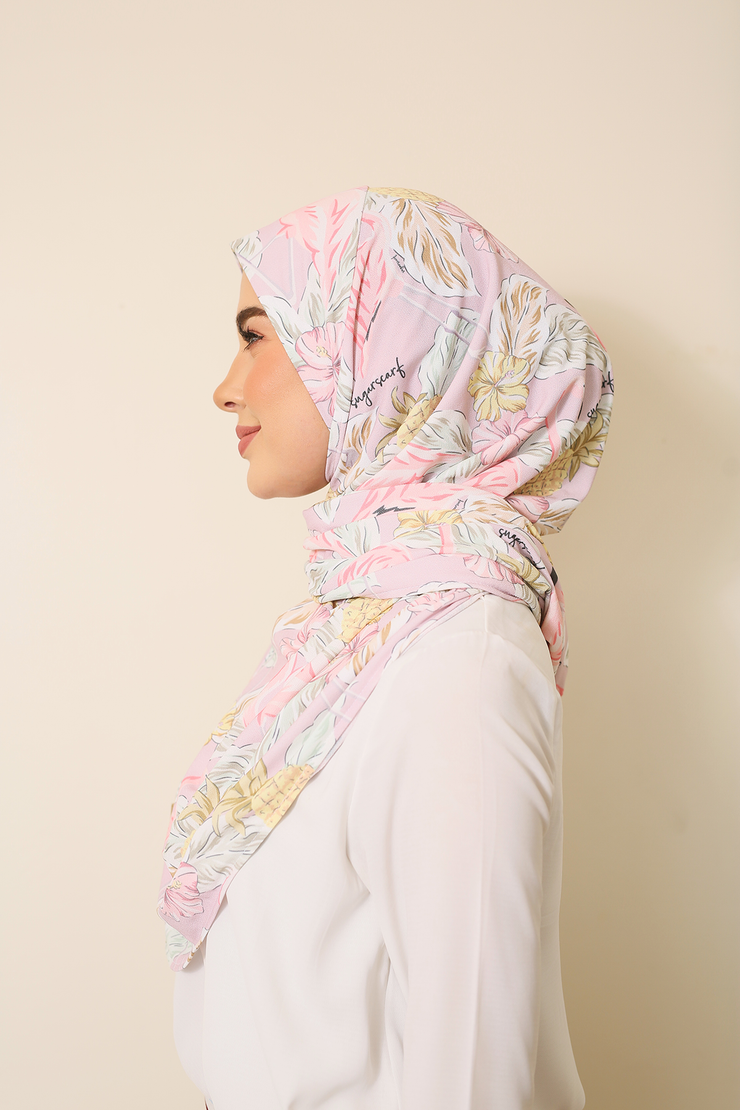 (Pina and Flamingo) Julia Round Awning Pinless Semi Instant Shawl