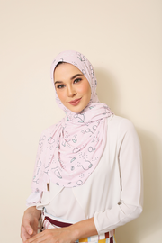 ( Ma Cherie ) JULIA Pinless Semi Instant Shawl - Round Awning