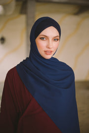 CS Instant Shawl MADISON CLASSIC BLUE SAPPHIRE - Sugarscarf