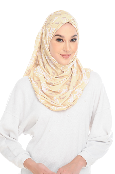 (Gold Bloom ) Pinless Semi Instant Shawl - Choose Awning