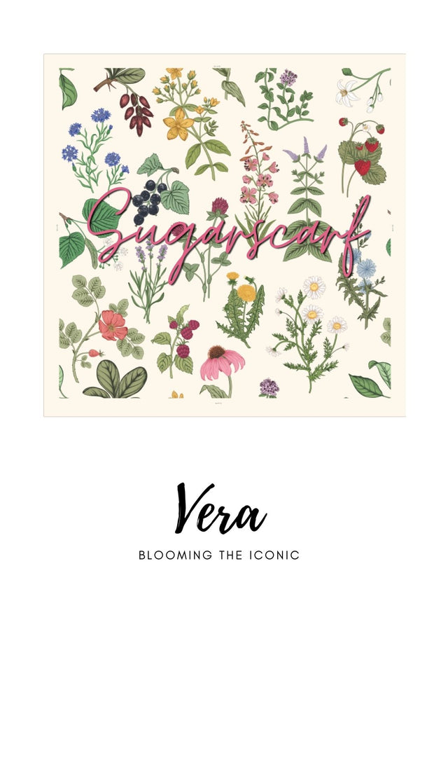 ( Square )  The Iconic You Blooming Series Mixed Satin Silk ( Vera )