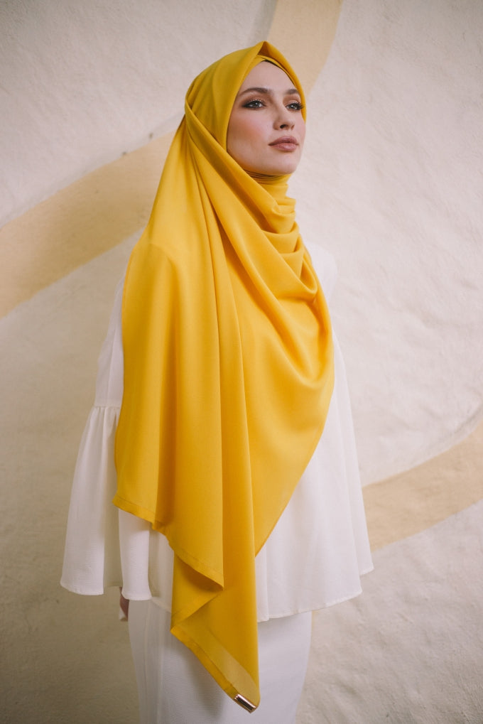 CS Instant Shawl MADISON CLASSIC LEMON DROP YELLOW - Sugarscarf
