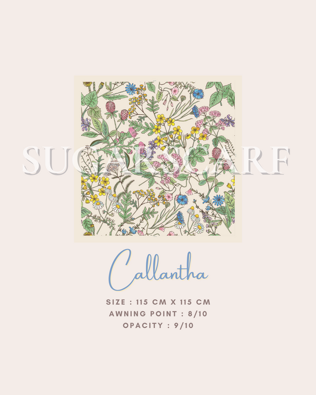 ( Square )  The Iconic You Blooming Series Mixed Satin Silk ( Callantha )