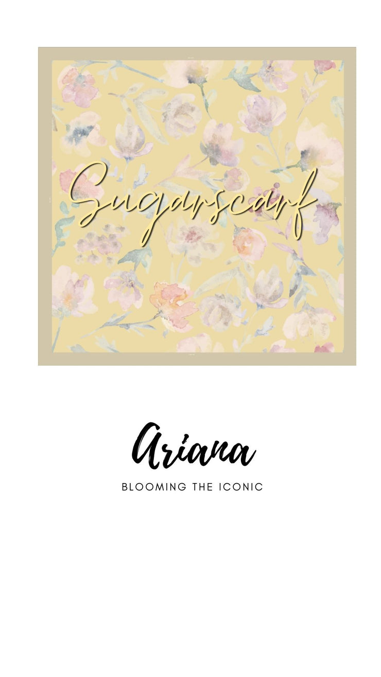 ( Square )  The Iconic You Blooming Series Mixed Satin Silk ( Aviana )
